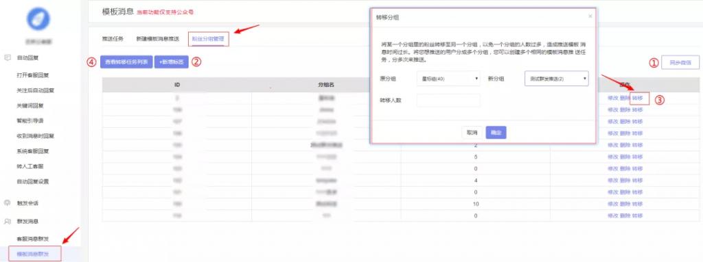服务号模板消息群发,消息直接触达用户,突破服务号每月4次群发限制